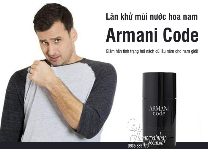 Lăn khử mùi nước hoa nam Armani Code 75g của Pháp 1