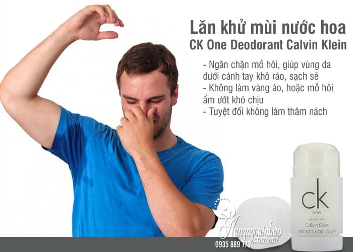 Lăn khử mùi nước hoa CK One Deodorant Calvin Klein75g