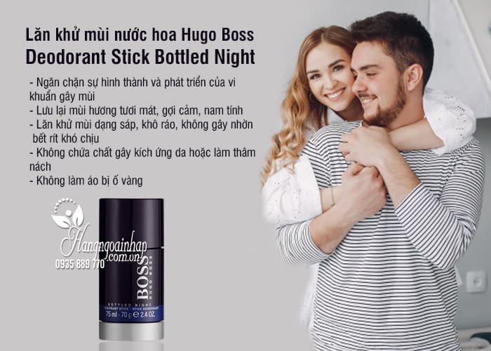 Lăn khử mùi nước hoa Hugo Boss Deodorant Stick Bottled Night 3