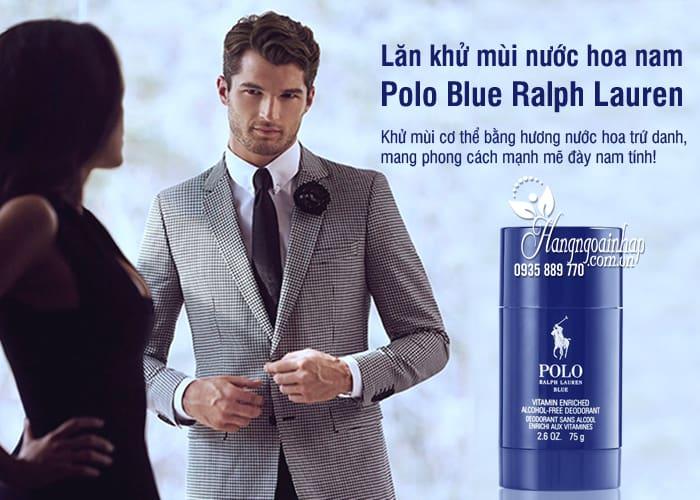 Lăn khử mùi nước hoa nam Polo Blue Ralph Lauren 75g của Mỹ 6