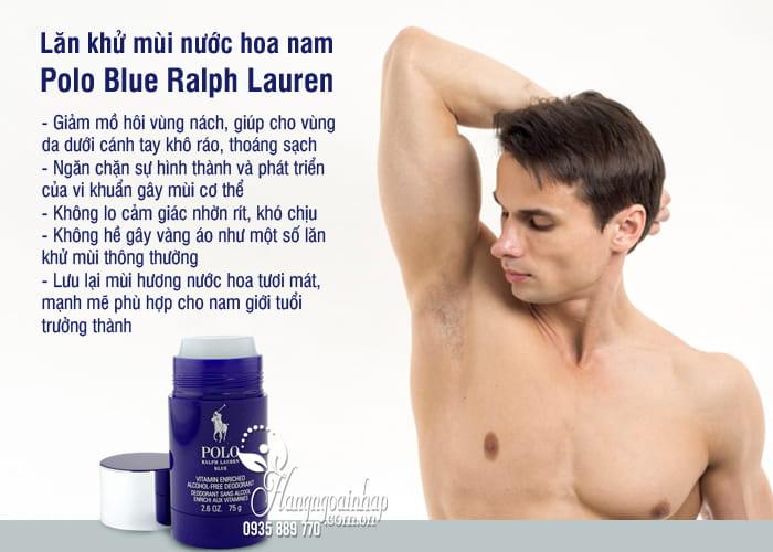 Lăn khử mùi nước hoa nam Polo Blue Ralph Lauren 75g của Mỹ 2