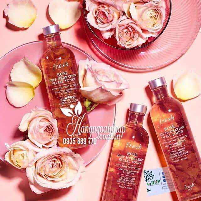 Nước hoa hồng cân bằng da Fresh Rose Deep Hydration của Mỹ 3
