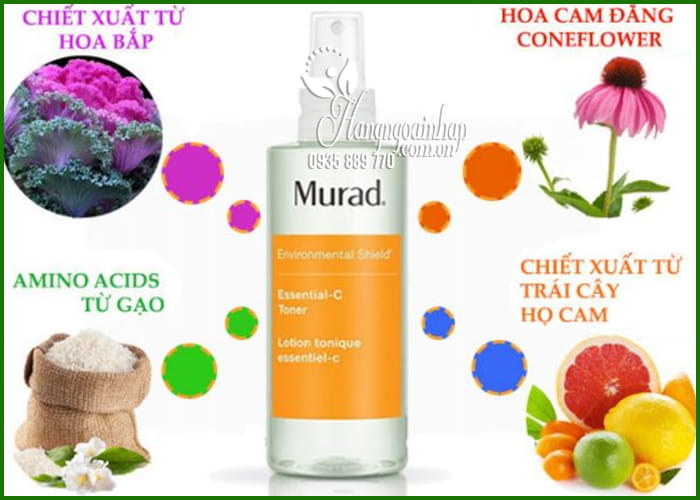 Nước cân bằng da Murad Essential-C Toner 180ml giúp da khỏe 1