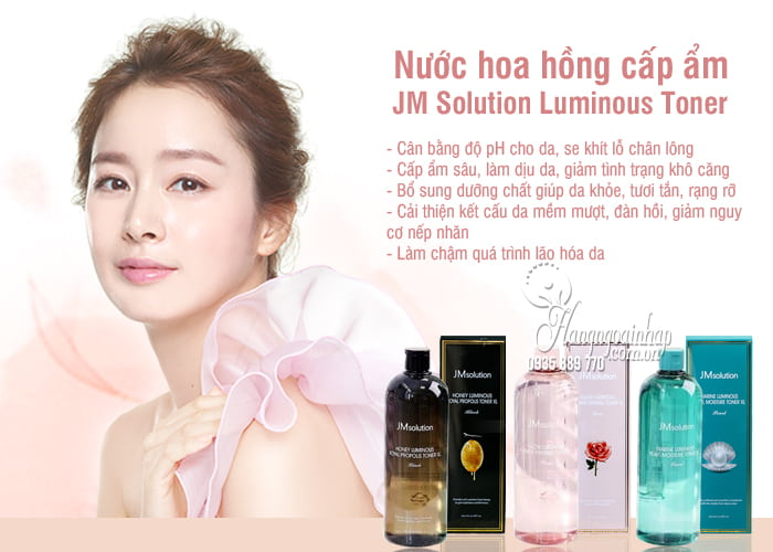 Nước hoa hồng cấp ẩm JM Solution Luminous Toner 600ml 2