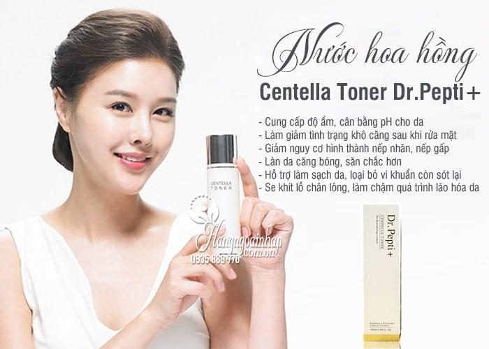Nước hoa hồng Centella Toner Dr.Pepti+ 180ml Hàn Quốc 8