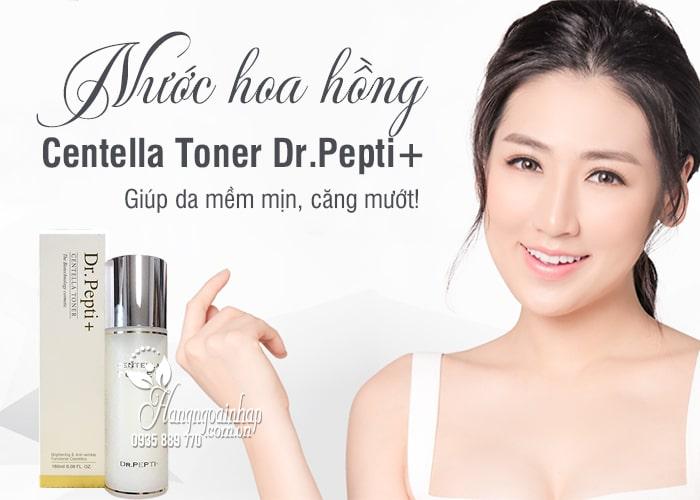 Nước hoa hồng Centella Toner Dr.Pepti+ 180ml Hàn Quốc 1