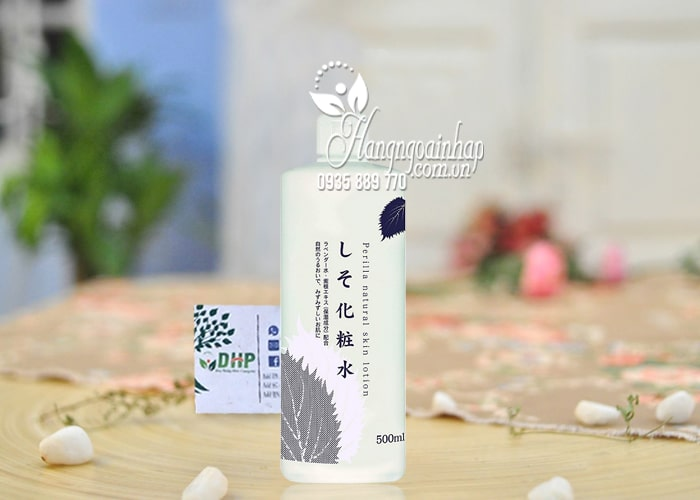 Nước hoa hồng lá tía tô Dokudami Perilla Natural 500ml Nhật Bản 1