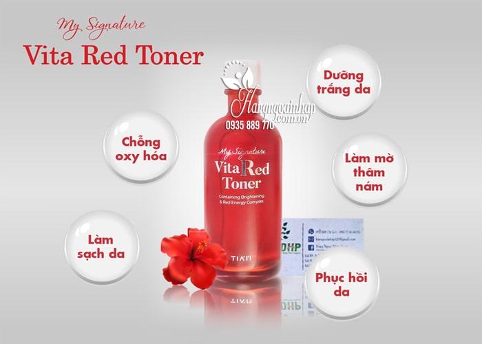 Nước hoa hồng My Signature Vita Red Toner Hàn Quốc, chai 130ml 3