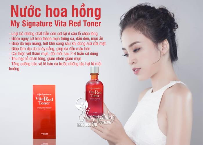 Nước hoa hồng My Signature Vita Red Toner Hàn Quốc, chai 130ml 5