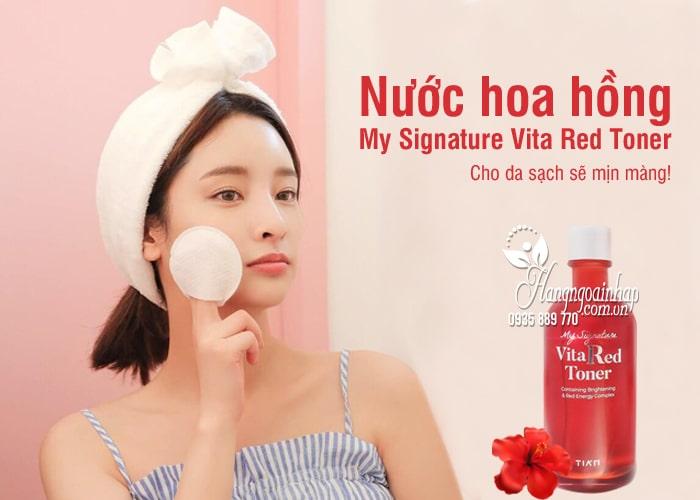Nước hoa hồng My Signature Vita Red Toner Hàn Quốc, chai 130ml 7