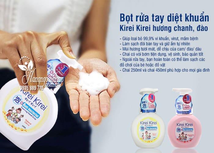 Bọt rửa tay diệt khuẩn Kirei Kirei hương chanh, đào 2