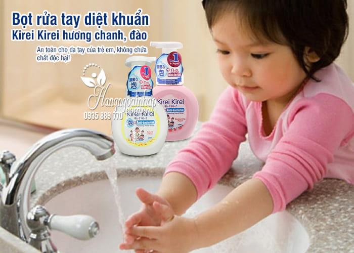 Bọt rửa tay diệt khuẩn Kirei Kirei hương chanh, đào 1