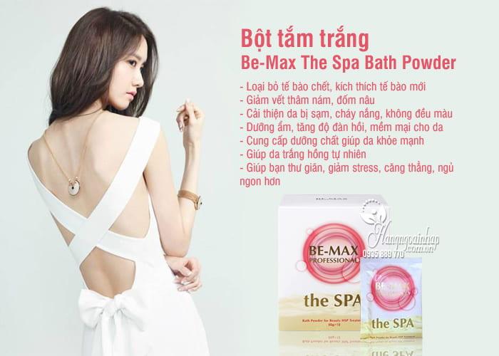 Bột tắm trắng Be-Max The Spa Bath Powder Nhật Bản hộp 12 gói 2