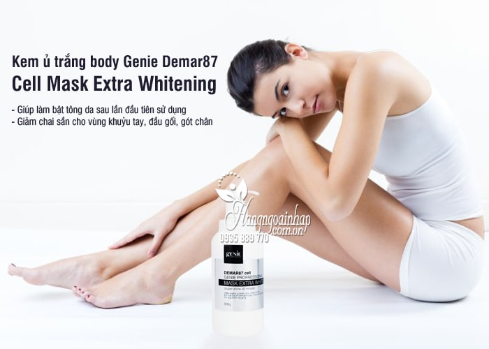 Kem ủ trắng body Genie Demar87 Cell Mask Extra Whitening 2