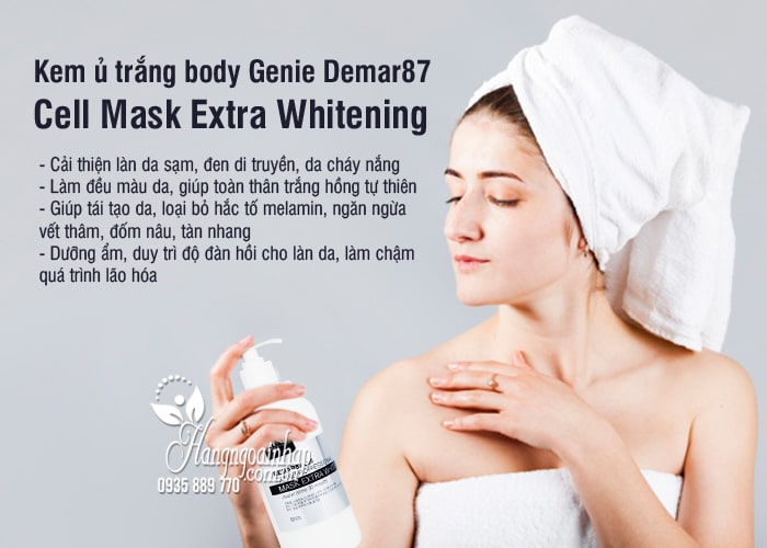 Kem ủ trắng body Genie Demar87 Cell Mask Extra Whitening 3