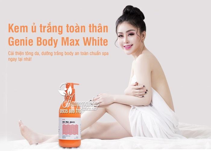 Kem ủ trắng toàn thân Genie Body Max White 300g Hàn Quốc 7