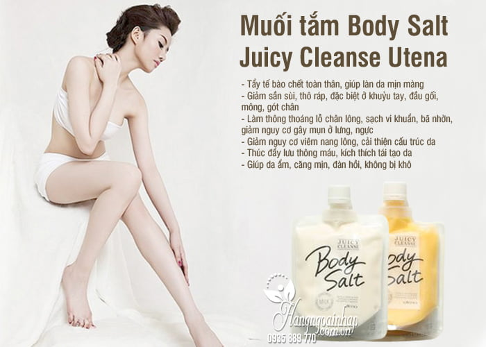 Muối tắm Body Salt Juicy Cleanse Utena 300g Nhật Bản 6