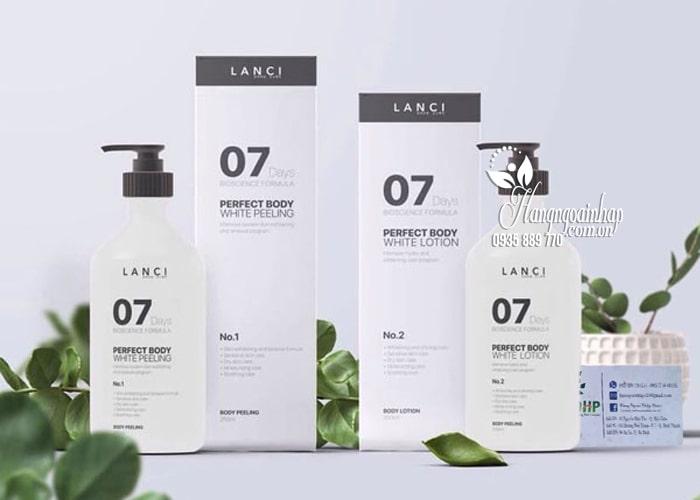 Set tắm trắng 7 ngày Lanci Perfect Whitening Body 7Days Hàn Quốc 1