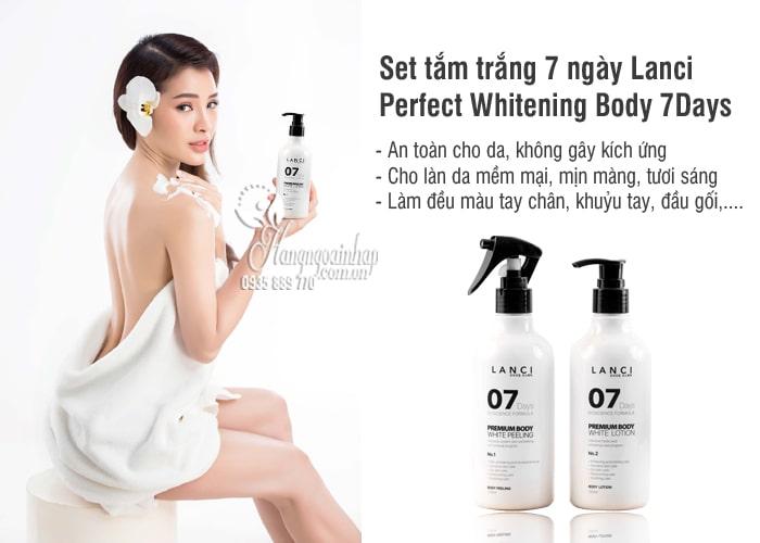 Set tắm trắng 7 ngày Lanci Perfect Whitening Body 7Days Hàn Quốc 4