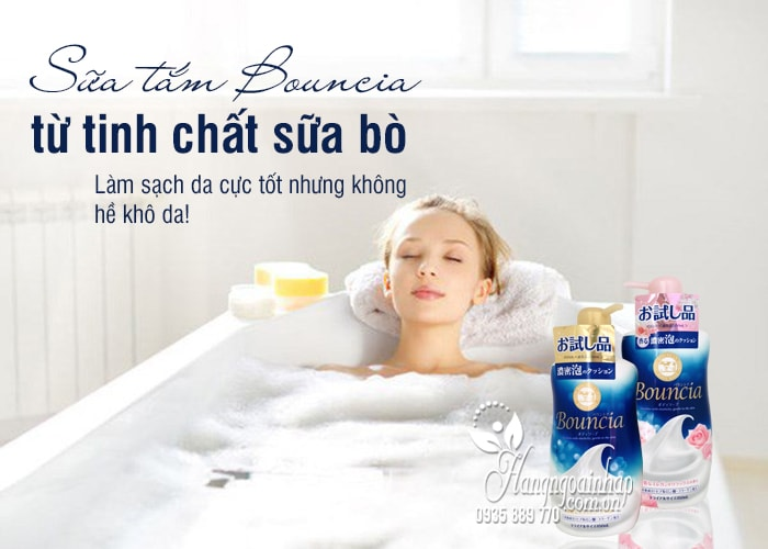 Sữa tắm Bouncia 450ml Nhật Bản từ tinh chất sữa bò 1
