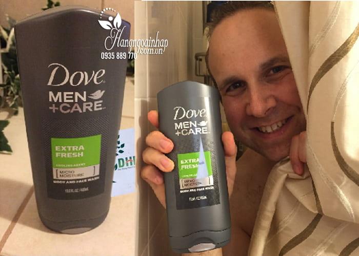 Sữa tắm và sữa rửa mặt Dove Men+ Care Extra Fresh 532ml 7