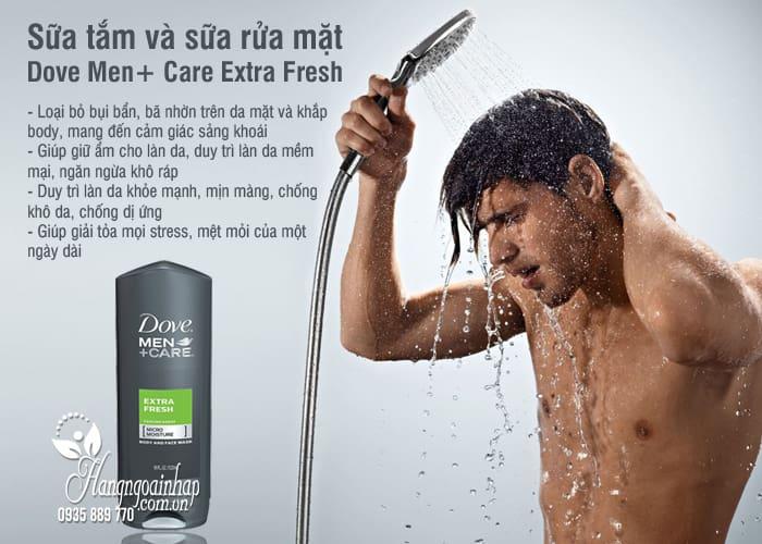 Sữa tắm và sữa rửa mặt Dove Men+ Care Extra Fresh 532ml 4