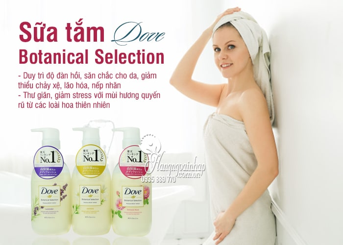Sữa tắm Dove Nhật Botanical Selection 500g chai có vòi 1
