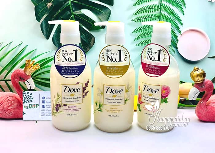 Sữa tắm Dove Nhật Botanical Selection 500g chai có vòi 4