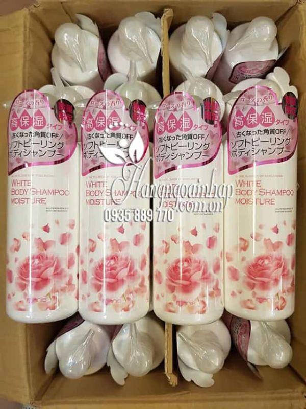 Sữa tắm Manis White Body Shampoo Moisture hồng chai 450ml 1