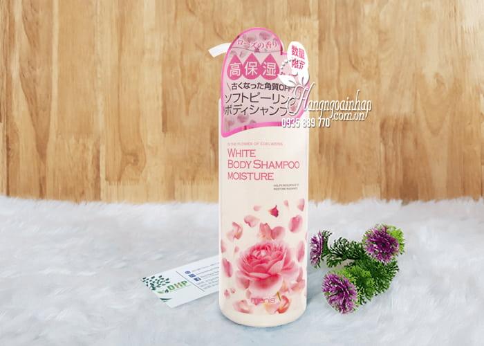 Sữa tắm Manis White Body Shampoo Moisture hồng chai 450ml 2
