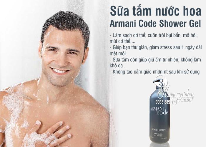 Sữa tắm nước hoa Armani Code Shower Gel 1 lít của Phápb 4
