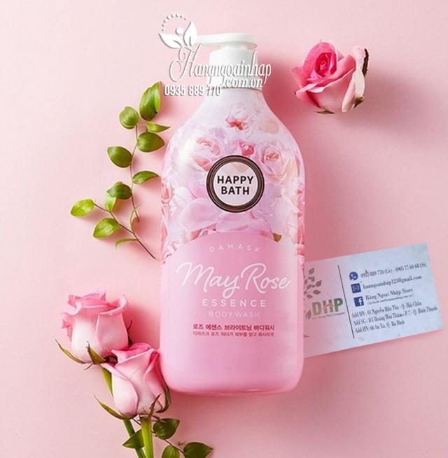 Sữa tắm tinh chất hoa hồng Happy Bath May Rose chai 900g 5