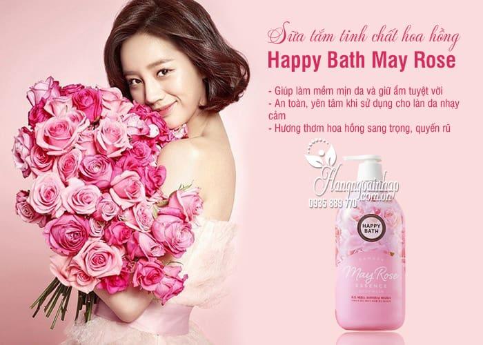 Sữa tắm tinh chất hoa hồng Happy Bath May Rose chai 900g 2