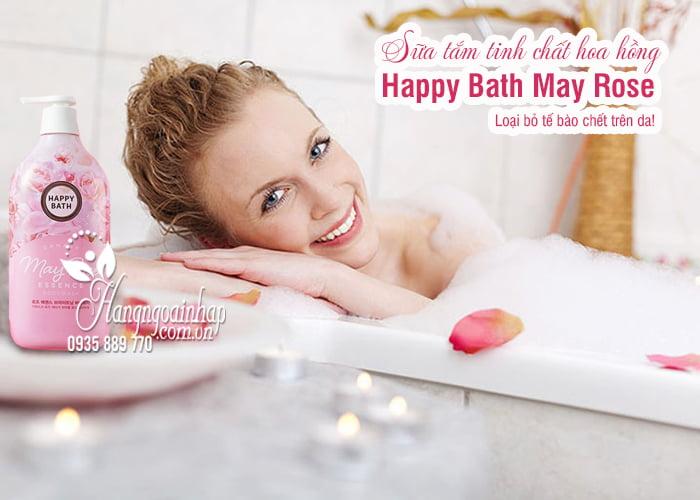 Sữa tắm tinh chất hoa hồng Happy Bath May Rose chai 900g 1