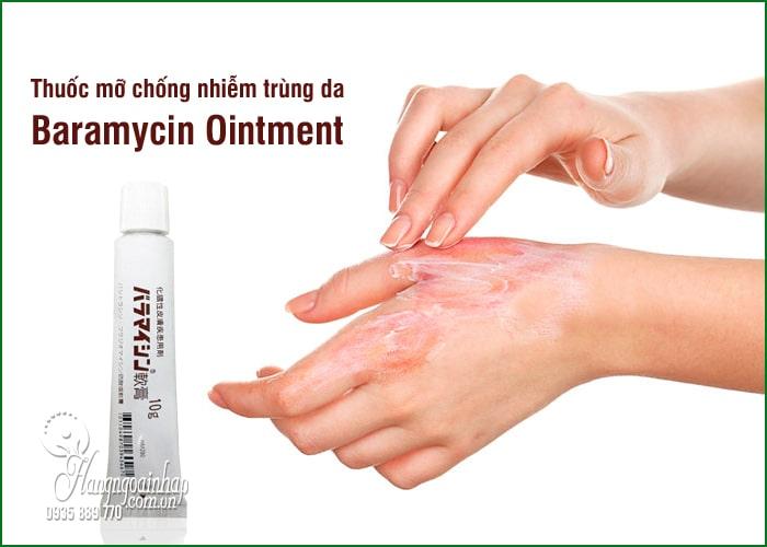 Thuốc mỡ chống nhiễm trùng da Baramycin Ointment 10g Nhật 8