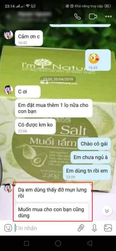 muối tắm body salt review