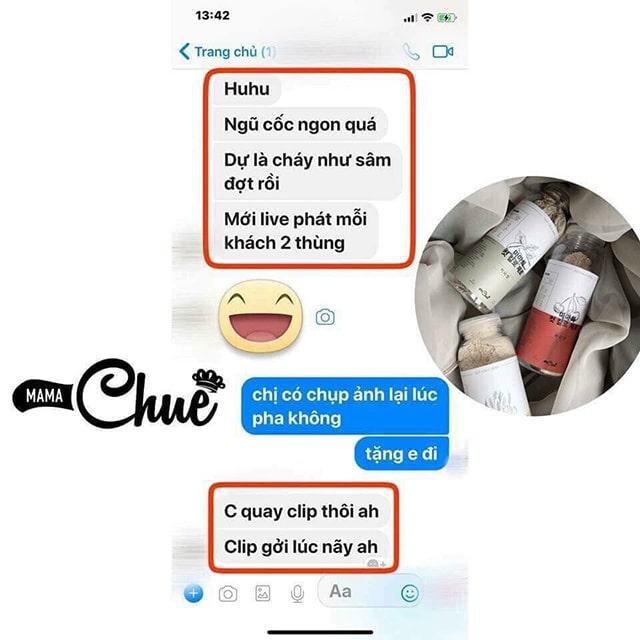 Ngũ cốc yến sào tươi Mama Chuê Cut Calo Zero REVIEW từ một số người dùng