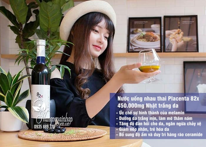 Nước uống nhau thai Placenta 82x 450.000mg Nhật trắng da 3