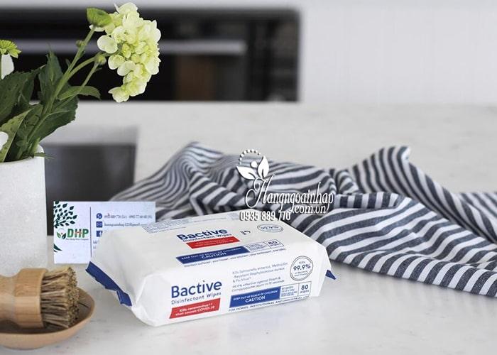 Khăn ướt diệt khuẩn Bactive Disinfectant Wipes 80 tờ của Mỹ 1