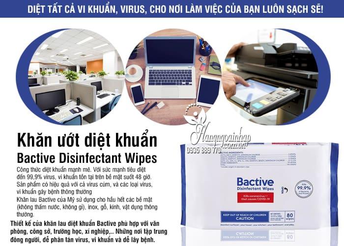 Khăn ướt diệt khuẩn Bactive Disinfectant Wipes 80 tờ của Mỹ 5