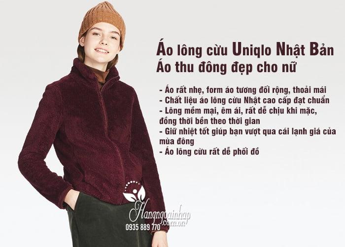 Áo lông cừu Uniqlo Nhật Bản - Áo thu đông đẹp cho nữ 2018 4