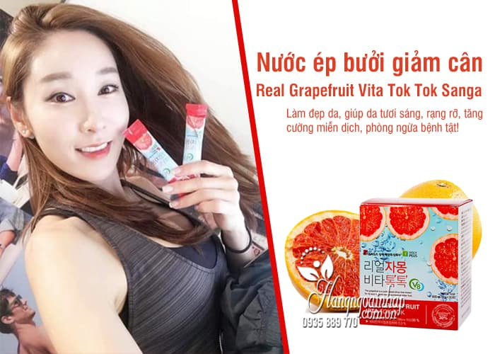 Nước ép bưởi giảm cân Real Grapefruit Vita Tok Tok Sanga 5