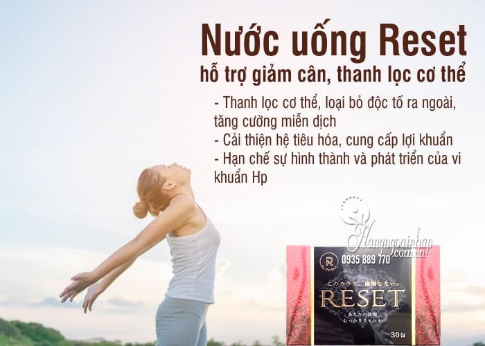 Nước uống Reset 30 gói Nhật Bản, hỗ trợ giảm cân, thanh lọc cơ thể 4
