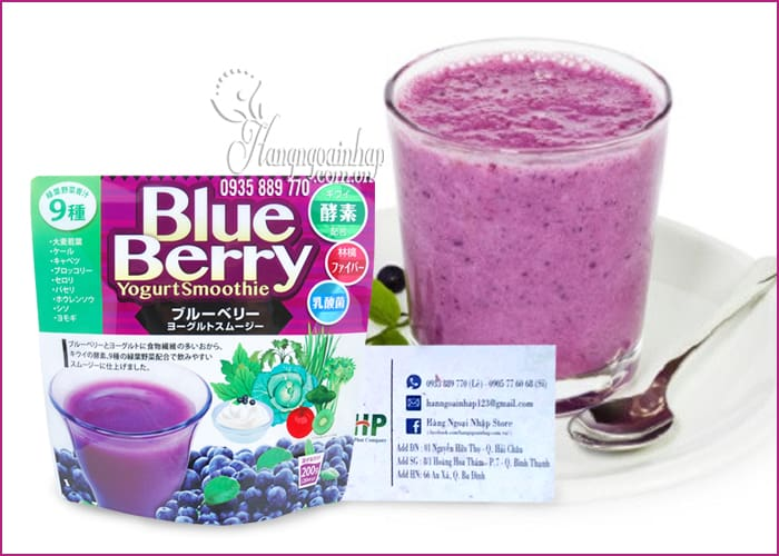 Sinh tố giảm cân đẹp da BlueBerry Yogurt Smoothie Nhật Bản 2