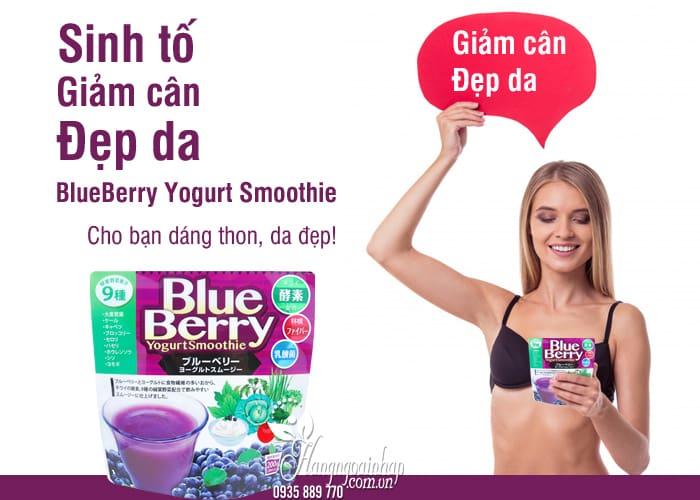 Sinh tố giảm cân đẹp da BlueBerry Yogurt Smoothie Nhật Bản 9