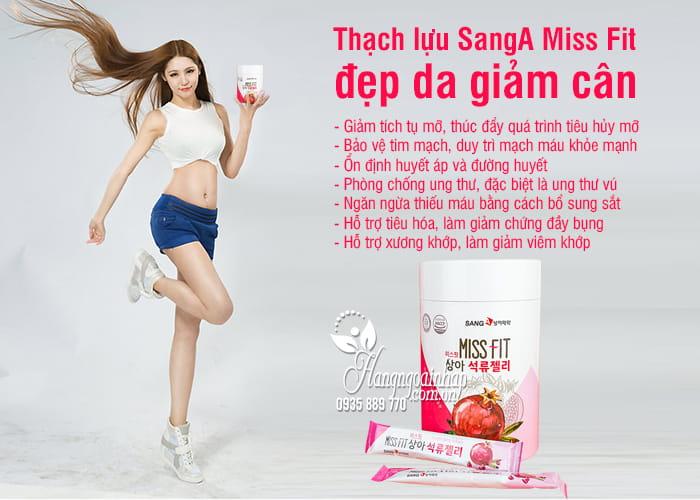 Thạch lựu SangA Miss Fit đẹp da giảm cân Hàn Quốc hộp 30 gói 5