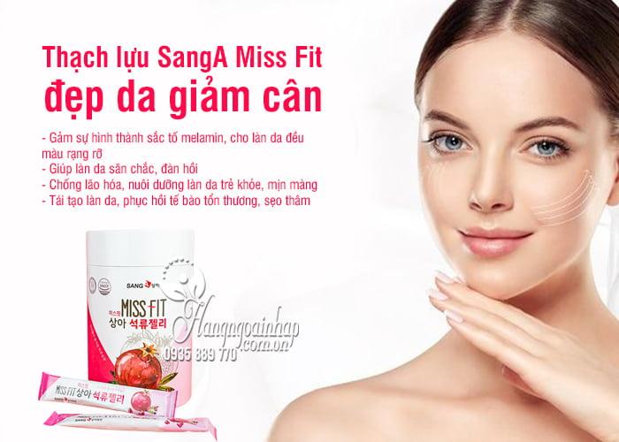 Thạch lựu SangA Miss Fit đẹp da giảm cân Hàn Quốc hộp 30 gói 3