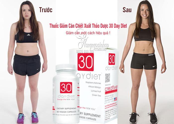 Thuốc Giảm Cân Chiết Xuất Thảo Dược 30 Day Diet 60 Viên Của Mỹ 2