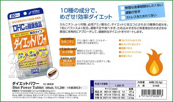 Thuốc giảm cân DHC Diet Power 20 ngày Nhật Bản, màu cam 2