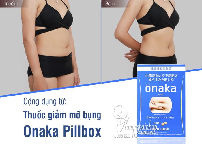 Thuốc giảm mỡ bụng Onaka Pillbox Nhật Bản 60 viên 9